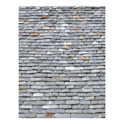 Primer de las tejas de tejado de pizarra tarjetones