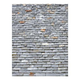 Primer de las tejas de tejado de pizarra folleto 21,6 x 28 cm