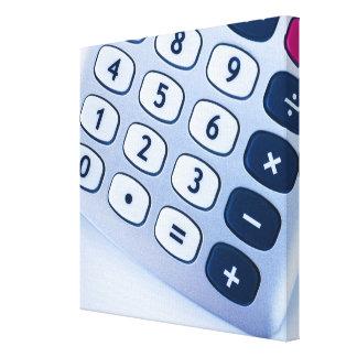 primer de los botones de la calculadora impresion de lienzo