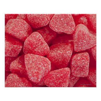 Primer de los caramelos de la forma del corazón póster