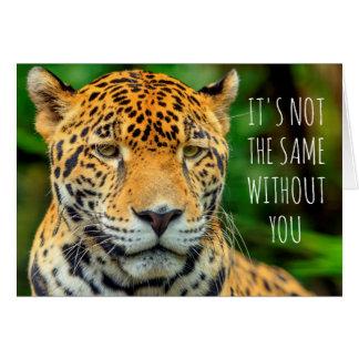 Primer de una cara del jaguar, Belice Tarjeta De Felicitación