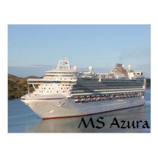 Primer del barco de cruceros del ms Azura en Postal