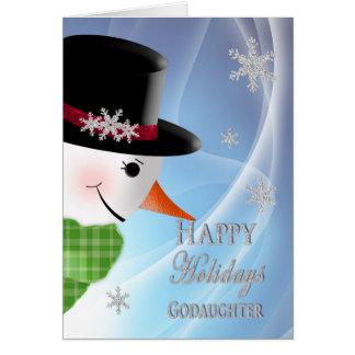 Primer del muñeco de nieve - navidad - tarjeta de felicitación