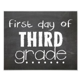 Primer día de 3ro muestra de la pizarra del grado fotografia