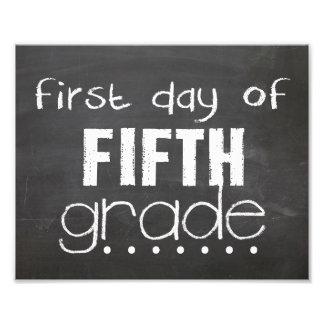 Primer día de 5ta muestra de la pizarra del grado fotografía