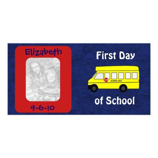 """""""Primer día de escuela """" Plantilla Para Tarjeta De Foto"""