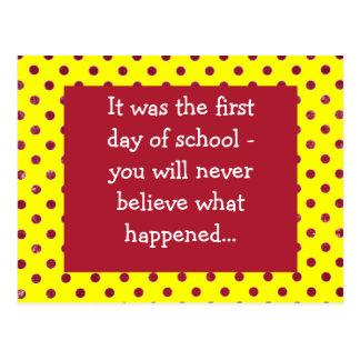 Primer día de escuela postal