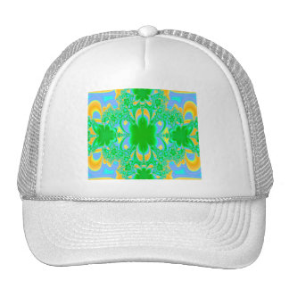 Primer día de fractal del verano gorra