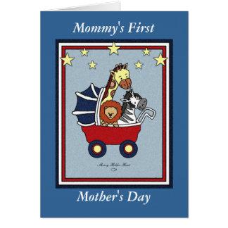 Primer estilo americana del día de la madre de la tarjeta de felicitación