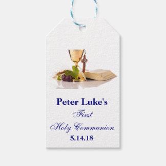 Primer favor de fiesta elegante de la comunión etiquetas para regalos