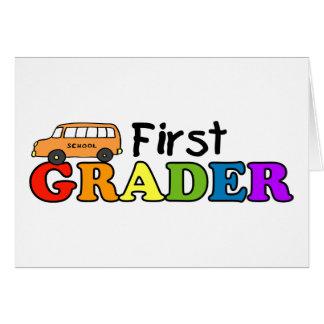 Primer graduador tarjeta de felicitación
