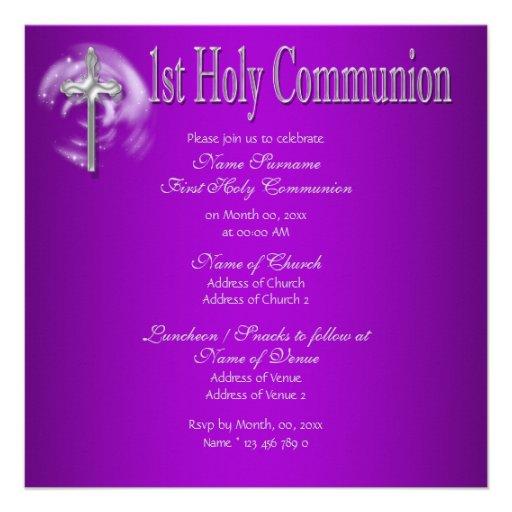 Primer gris del rosa de la comunión santa comunicado personal