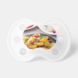 Primer hecho en casa natural de la comida chupetes de bebé