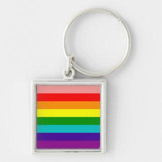 Primer llavero de la bandera del orgullo gay del