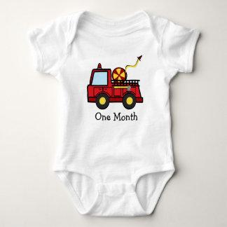 Primer mes del coche de bomberos body para bebé