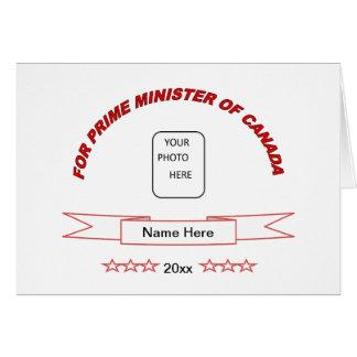 Primer ministro divertido tarjeta