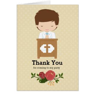 Primer muchacho de la comunión santa * elija el tarjeta de felicitación
