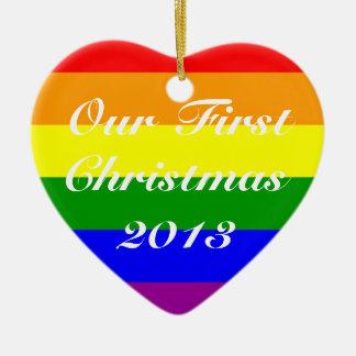 Primer navidad 2013 del matrimonio homosexual ornamentos de reyes