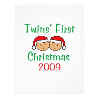 Primer navidad de los gemelos flyer a todo color