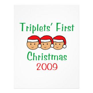 Primer navidad de los tríos tarjetones