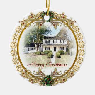 Primer navidad en el nuevo ornamento casero