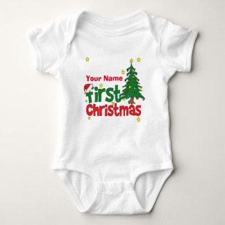 Primer navidad personalizado body para bebé