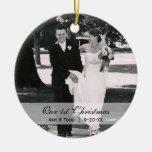 Primer ornamento de encargo de la foto del navidad ornato