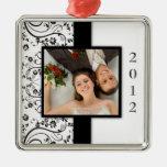 Primer ornamento de la foto del navidad ornamento para arbol de navidad