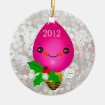 Primer ornamento de la foto del navidad del bebé d adornos de navidad