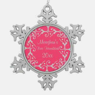 Primer ornamento del copo de nieve de Jánuca de la Adornos