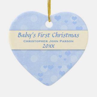 Primer ornamento del navidad del bebé