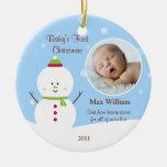 Primer ornamento del navidad del bebé ornaments para arbol de navidad