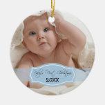 Primer ornamento del navidad del bebé de encargo ( adorno de reyes