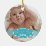 Primer ornamento del navidad del bebé de encargo ( ornamento para reyes magos