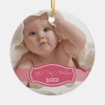 Primer ornamento del navidad del bebé de encargo ( ornamentos para reyes magos