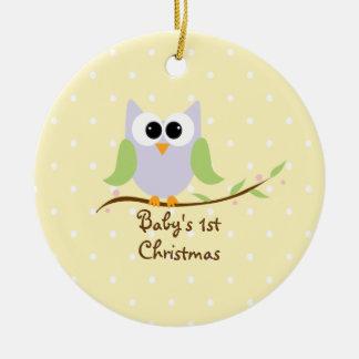 Primer ornamento del navidad del bebé dulce del