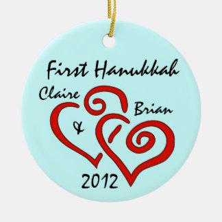Primer ornamento personalizado de Jánuca Ornaments Para Arbol De Navidad