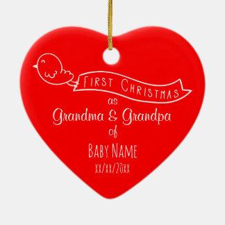 Primer ornamento personalizado del navidad de los