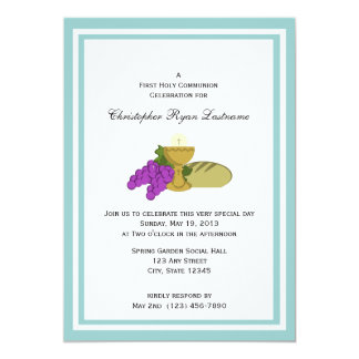 Primer pan de la comunión de la vida invitación 12,7 x 17,8 cm