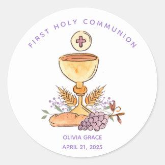 Primer pegatina de los símbolos de la comunión