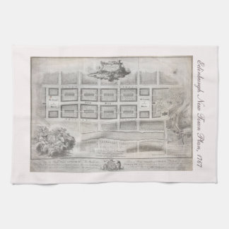Primer plan de la nueva ciudad, Edimburgo 1767 Toalla De Mano