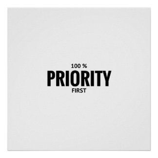 PRIMER poster 100% del valor de la PRIORIDAD Póster