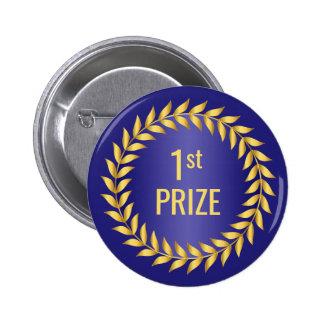 Primer premio del oro y del azul chapa redonda de 5 cm