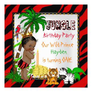 Primer príncipe salvaje Ethnic del safari de selva Invitación 13,3 Cm X 13,3cm