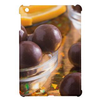 Primer redondo del chocolate del caramelo