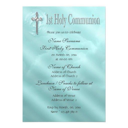 Primer religioso azul de la comunión santa comunicado