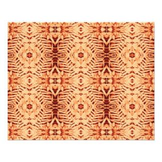 primer rojo de la cuna del batik y papel fino del folleto 11,4 x 14,2 cm