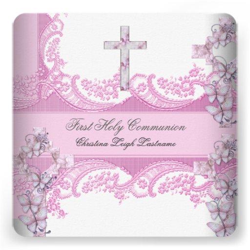 Primer rosa bonito del cordón de la comunión santa