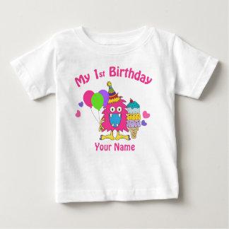 Primer rosa del circo del cumpleaños del bebé camiseta de bebé