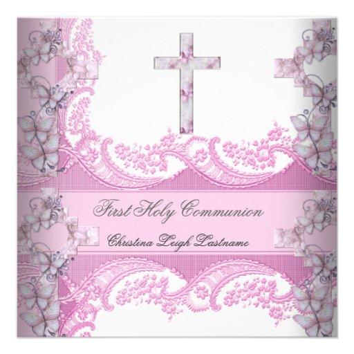 Primer rosa del cordón de la comunión santa del ch comunicado personalizado